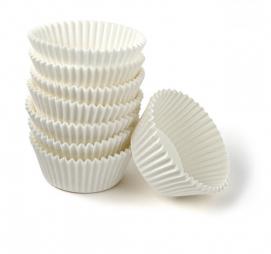 Papirni kalupi d=55 mm h=35 mm bijeli (1000 kom/pak)