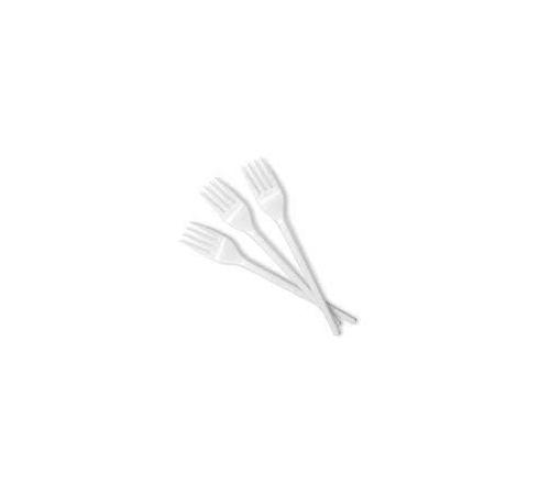 Vilica plastična 16,5 cm bijela (100 kom/pak)