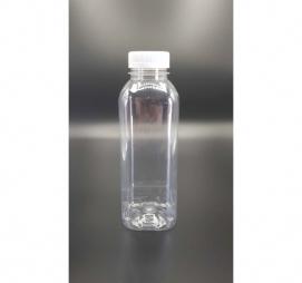 Boca sa poklopcem PET 500 ml d=38 mm glatka prozirna (100 kom/pak)
