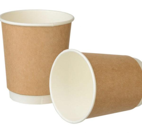 Čaša papirnata 250 ml d=80 mm 2-slojna Complement  kraft (24 kom/pak)