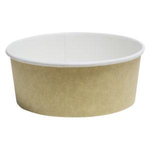 Papirnata posuda za salatu 750 ml d=146 mm h=65 mm kraft (50 kom/pak)