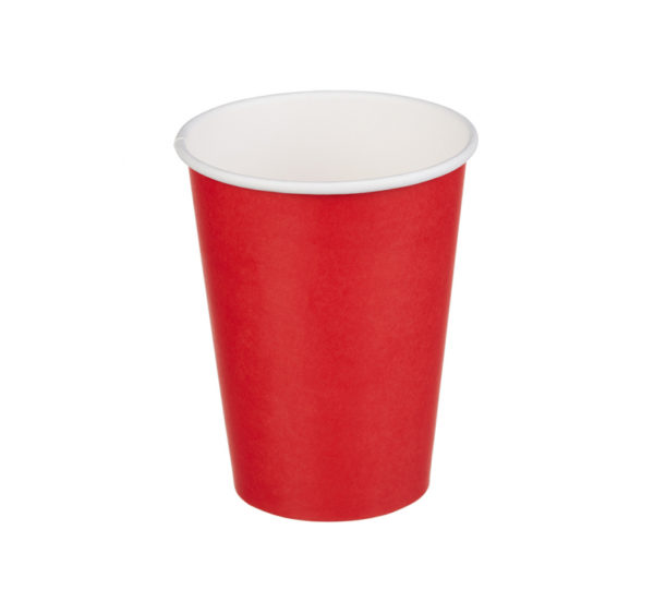 Čaša papirnata 300 ml d=90 mm 1-slojna crveni (50 kom/pak)