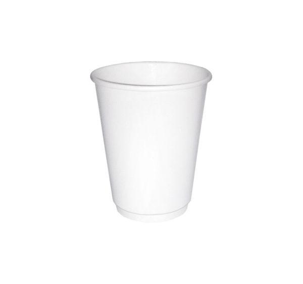 Čaša papirnata 250 ml d=80 mm 2-slojna  bijela (24 kom/pak)