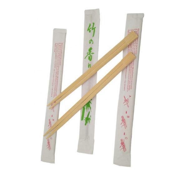 Drveni štapići za jelo, pojedinačno zamotani (100 kom/pak)
