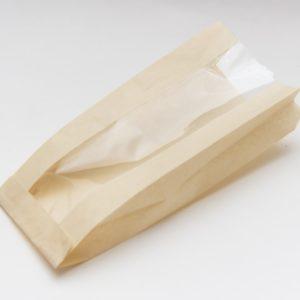Papirnata vrećica s prozorom 110(50)х40х260 mm obojena (1000 kom/pak)