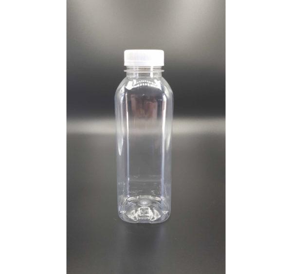 Boca sa poklopcem PET 500 ml d=38 mm glatka prozirna (120 kom/pak)