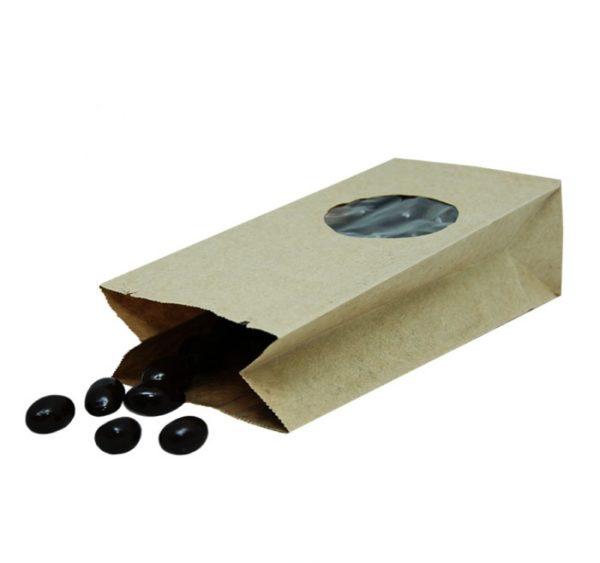 Papirnata vrećica s pravokutnim dnom 170х80х50 mm kraft, prozor 5 (900 kom/pak)