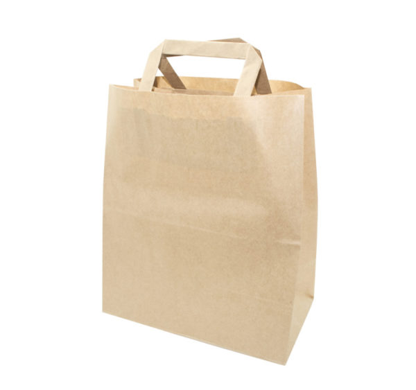 Papirnata vrećica sa ravnom ručkom 320x200x370 mm kraft (250 kom/pak)