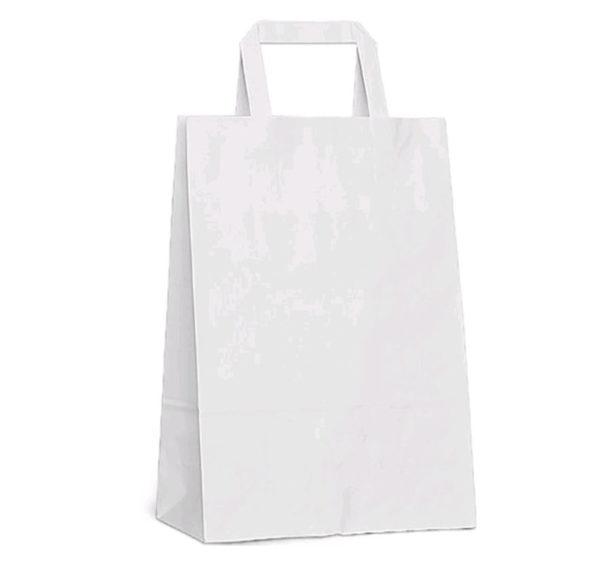 Papornata vrećica sa ravnom ručkom 350х150х450 mm bijela (200 kom/pak)