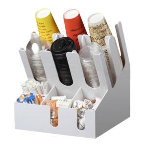 Stojalo za čaše 3 odeljka i 6 odeljaka za dodaci plasticni bijela (7002A-W)
