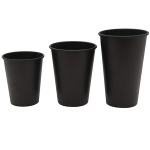 Čaša papirnata 250 ml d=80 mm 1-slojna Total Black (75 kom/pak)