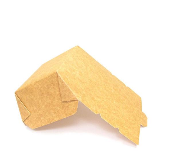 Papirnata posoda Lunch2Go 600 ml 150x115x50 mm kraft (90 kom/pak)