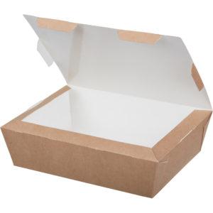 Papirnata posoda Lunch2Go 1000 ml 190x150x50 mm kraft
