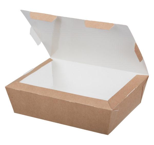 Papirnata posoda Lunch2Go 1000 ml 190x150x50 mm kraft (80 kom/pak)