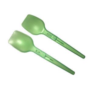 Plastična žlička 10,7 cm zelena (sklopljiva) (4000 kom/pak)