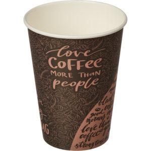 Čaša papirnata 300 ml d=90 mm 1-slojna Coffee (50 kom/pak)