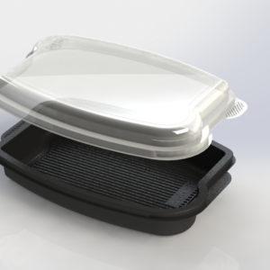 Poklopac PP 262x182x55mm prozirni CD-402 (250 kom/pak)