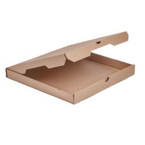Kutija za pizzu 330x330x40 mm mikro valoviti karton (50 kom/pak)