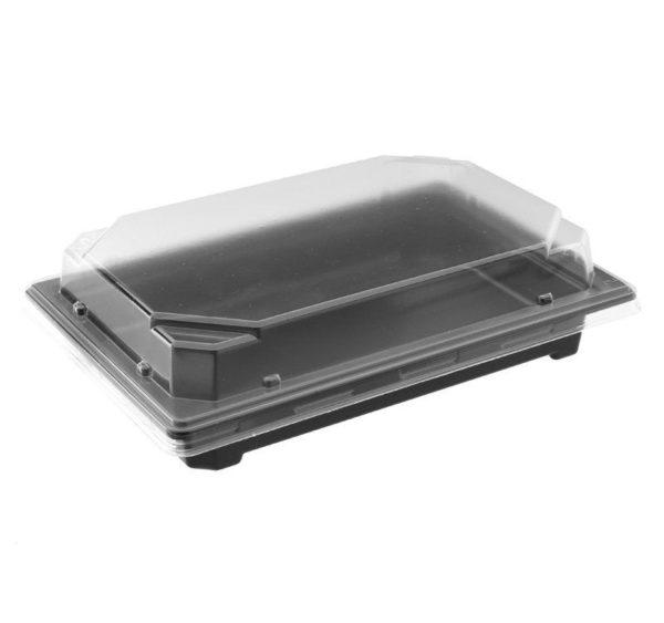 Posuda za sushi PS 182x128x24 mm crna za poklopcpem C-19 MP, 960 kom (komplet)