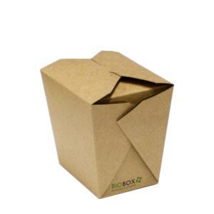 Papirnata posuda BioBox za WOK 700 ml kraft (50 kom/pak)