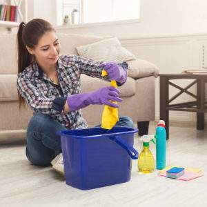Komplet za čišćenje poda plavi