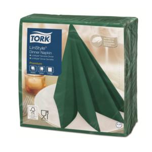 Salvete za večeru Tork Premium Linstyle® 39×39 cm, 50 kom/pak, borova zelena
