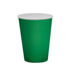 Čaša papirnata 300 ml d=90mm 1-slojna zelena (50 kom/pak)