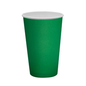 Čaša papirnata 400 ml d=90mm 1-slojna zelena (50 kom/pak)