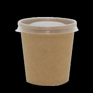 Papirnata posuda za juhu BioBox 440 ml d=98 mm h=99 mm kraft bez poklopca (40 kom/pak)