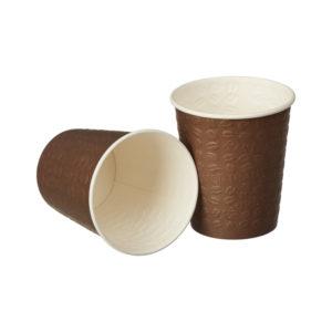 Čaša papirnata 250 ml d=80 mm 1-slojna smeđa Coffee Touch reljefno žigosanje (50 kom/pak)