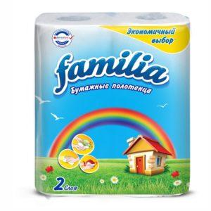 Papirnati ručnici u roli 2 sl 2/1 Familia Rainbow bieli (50455)